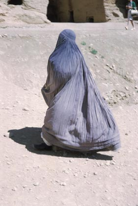 Afghan Woman in Purdah/Burqa (Used by permission of AGS Library, one-time use.)