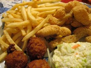 Catfish and Hush Puppies (Used by permission of Patrick Woodward.)