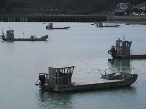 Oyster-gathering boats, Cancale, France