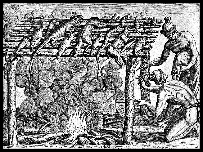 "DeBry's Engraving of ""Barbacoa"""