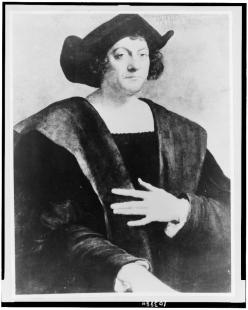Christopher Columbus, Portrait by Sebastiano del Piombo (Library of Congress)