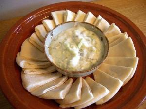 Gherkin-Yogurt Salad with Pita (Used with permission.)