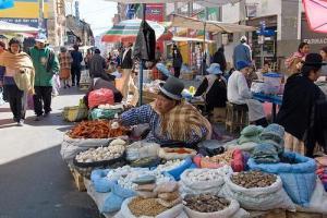 La Paz, Bolivia market (Used with permission of Mark Shandro.)