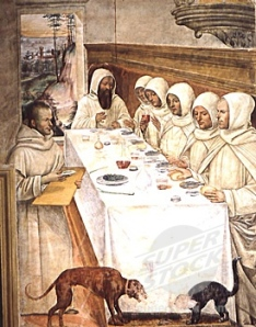 St. Benedict and his Monks Eating