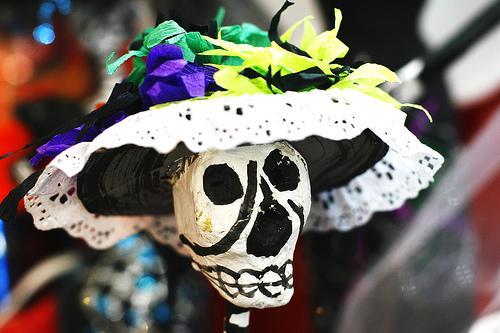 """Caterina"" Skull Figure"