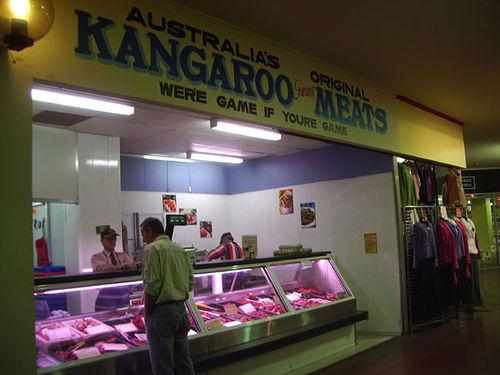 kangaroo meat shop