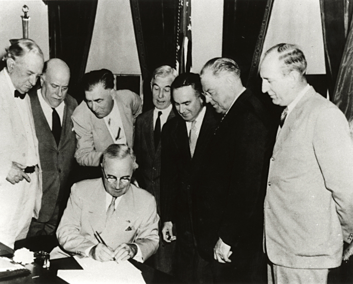 Truman Signing the Atomic Energy Act of 1946