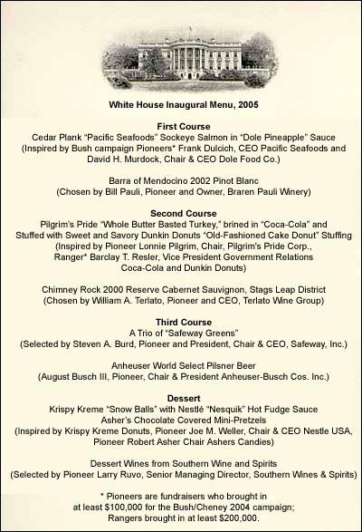 bush-inaugural-menu-2005