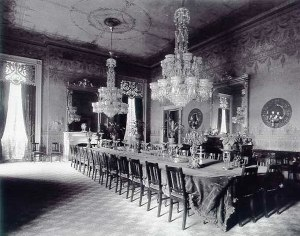 State Dining Room at the time of President Cleveland