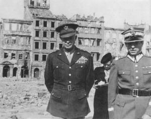 General Eisenhower in Warsaw, 1945