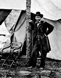 Grant at Cold Harbor, Virginia, 1864 (Matthew Brady photo)