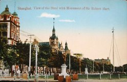 "Postcard of the ""Bund"" in Shanghai"