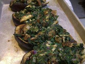 Herb-Stuffed Eggplant Ready to Cook