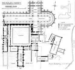 Monks Beaulieu Abbey floor plan