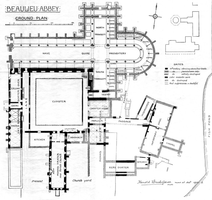Monks Beaulieu Abbey floor plan