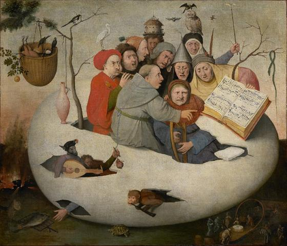 Monks concert in the egg