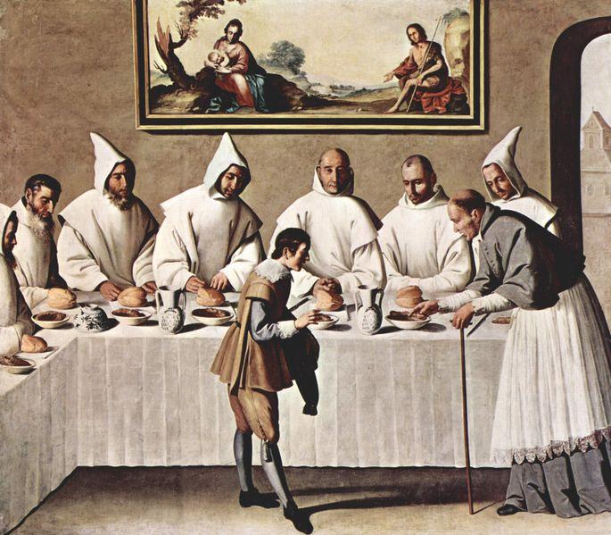 (Painting by Francisco de Zurburan)