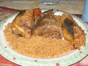 Africa fish with rice