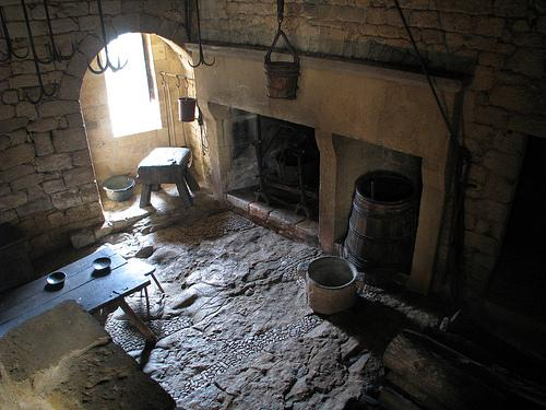 Kitchen at Castle Beynac (Photo credit: Lawrence Rice)