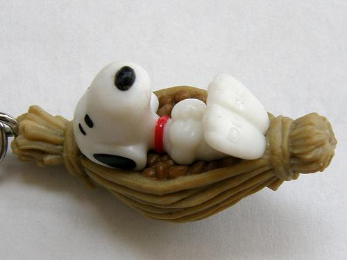 Snoopy with Ibaragi Mito nattō (水戸納豆)