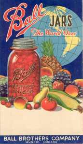 Old Ball Canning Jar Poster