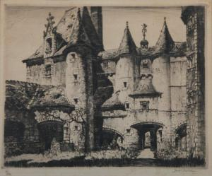 An Example of a Chamberlain Etching (Castle Walls)