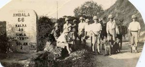 Hiking in Simla, 1933
