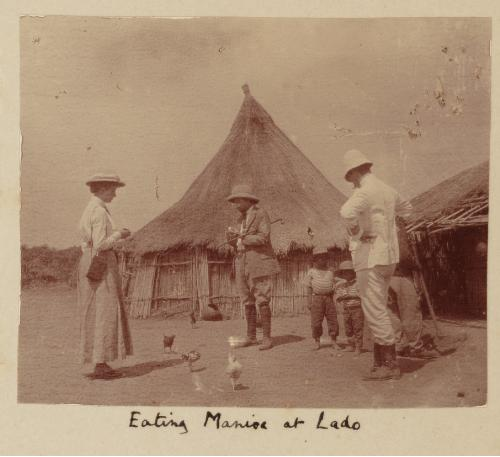 Africa colonial eating manioc