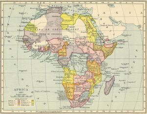 Africa colonial map