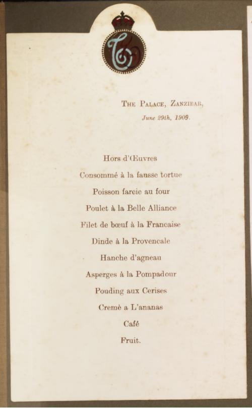 Africa colonial menu