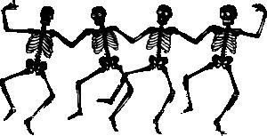 Halloween dancing skeletons