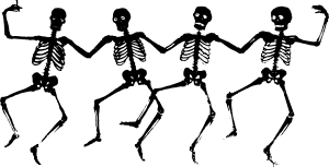 Halloween dancing skeletons