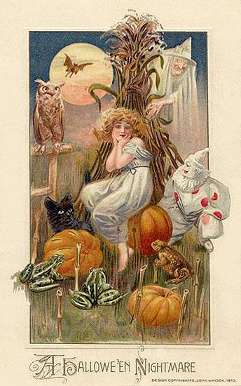 Halloween postcard nightmare