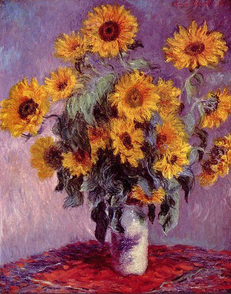 Sunflowers, by Claude Monet