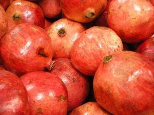 Pomegranates market