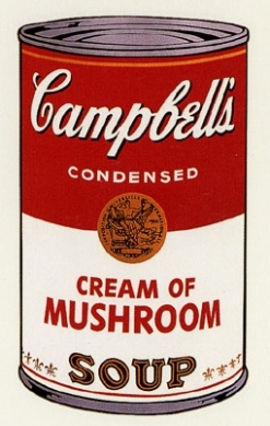 Mushrooms Andy Warhol cream-of-mushroom-1968