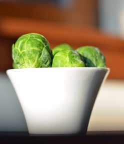 Brussel sprouts in cup