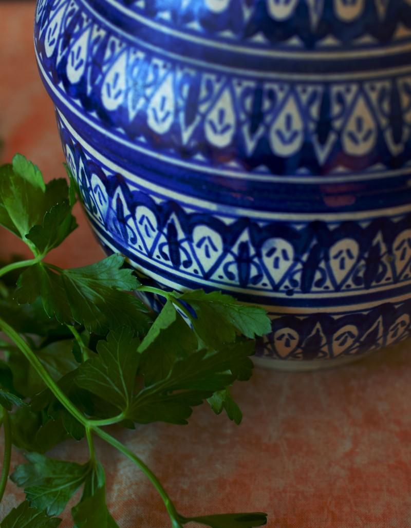 Moroccan ceramic jar