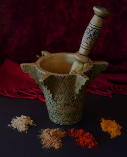 Moroccan mortar and pestle