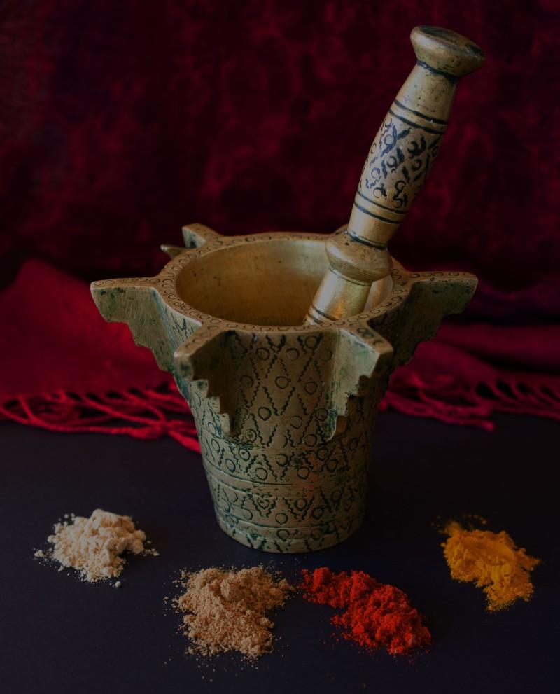 Moroccan mortar and pestle