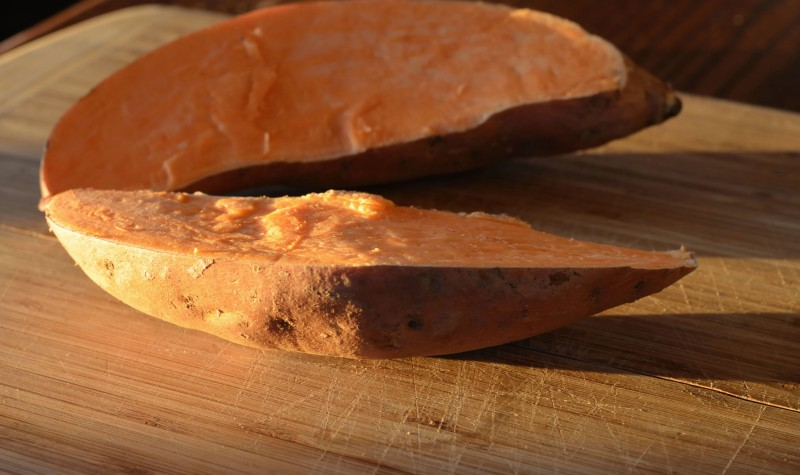 Cut sweet potato