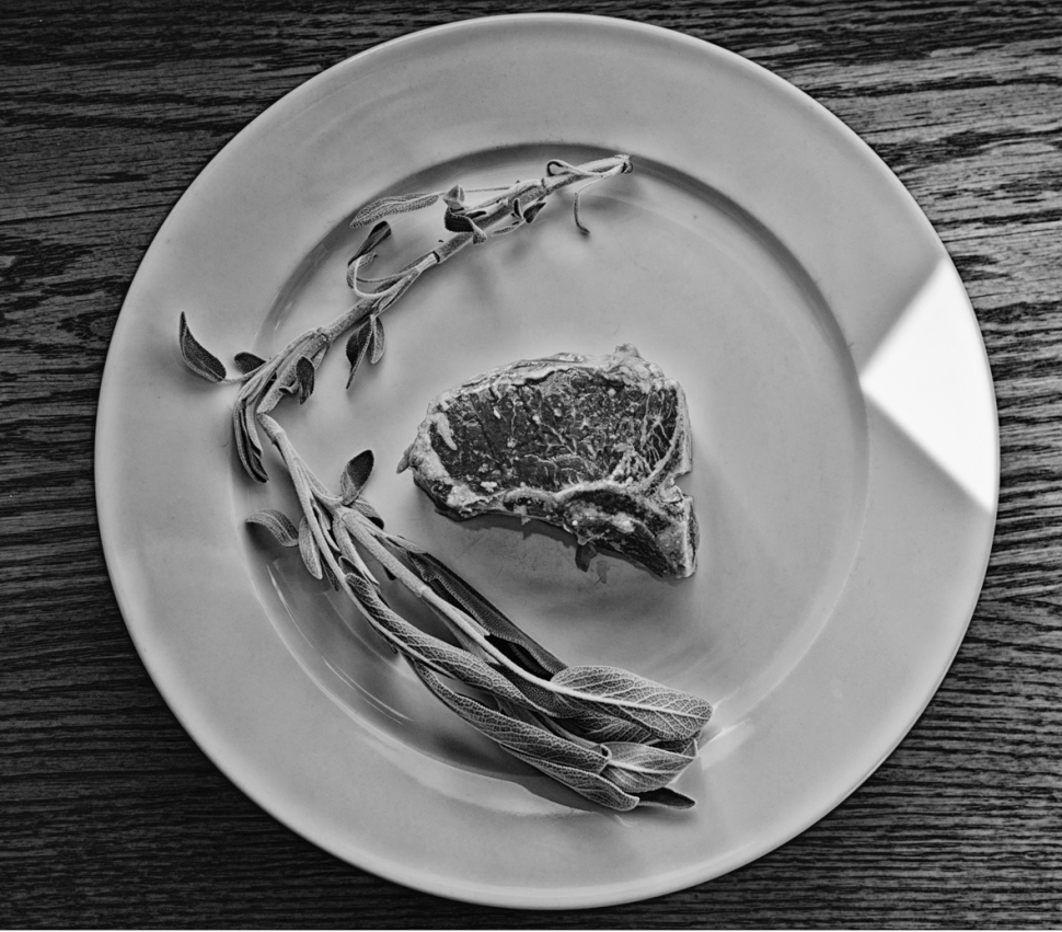 Lamb chops with sage 2 BW