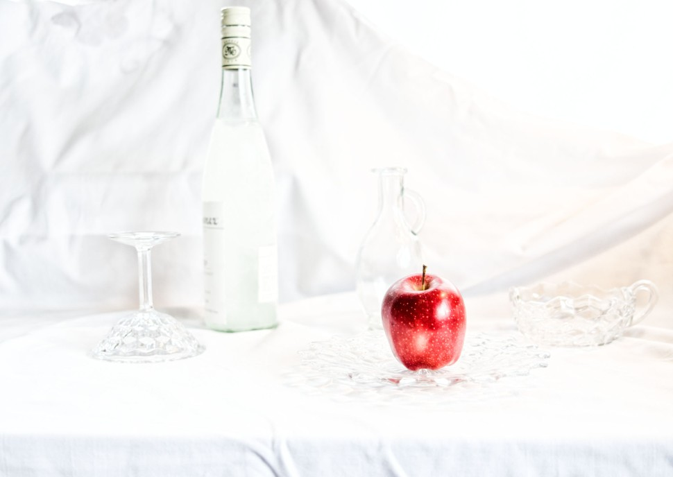 Large still life with apple