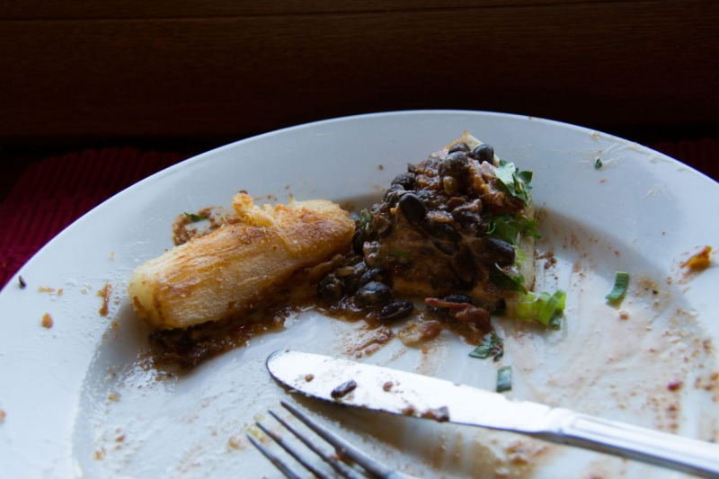 Manioc beans on plate resize