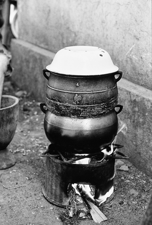 Cooking with fire BW