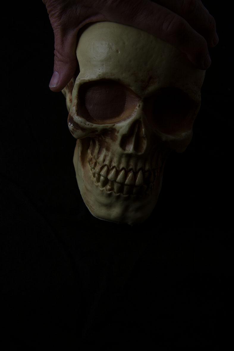 Finger and skull