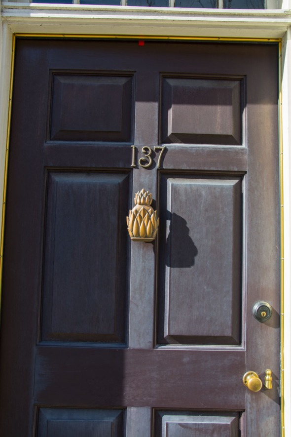 Door with pineapple Charleston