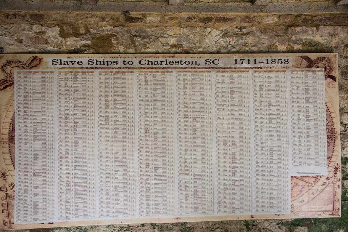Slave ships to Charleston