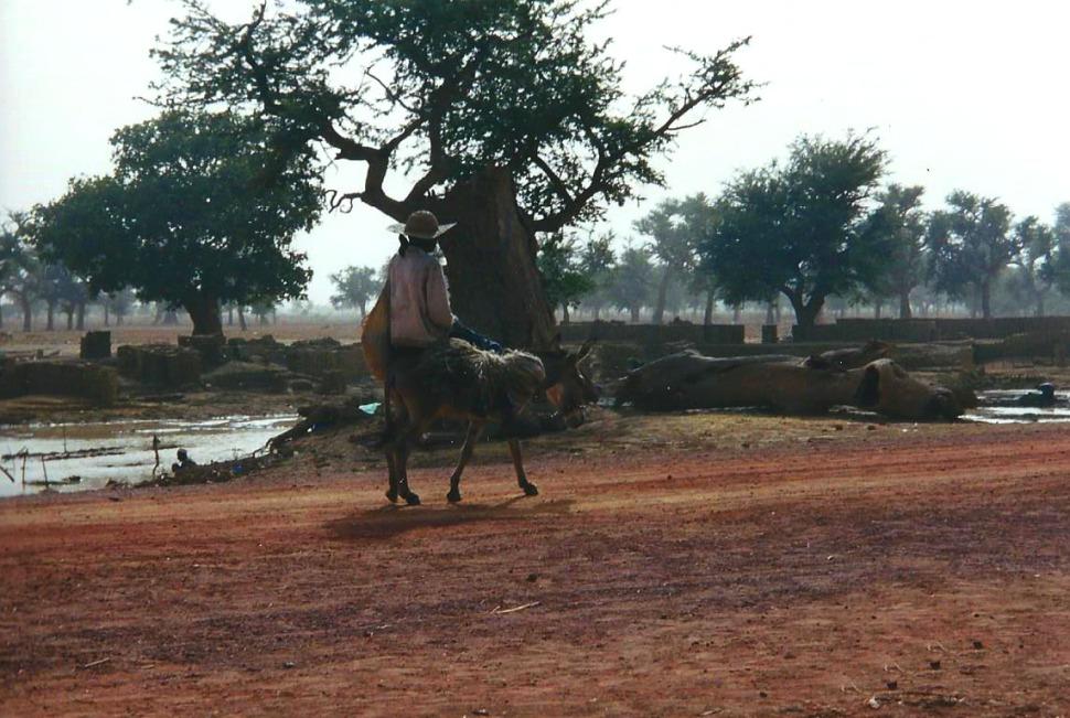 Africa Burkina road scene