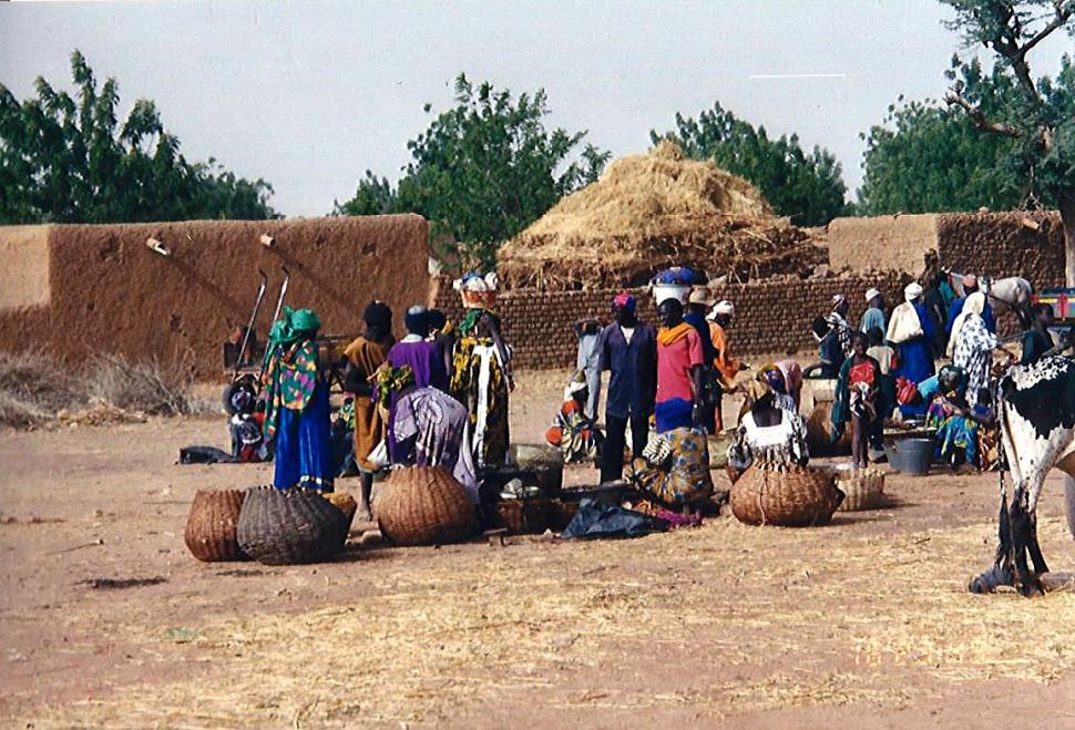 Africa village road scene 2
